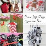 fabric gift bags you can sew | PatchworkPosse #holiday #christmas #giftbags