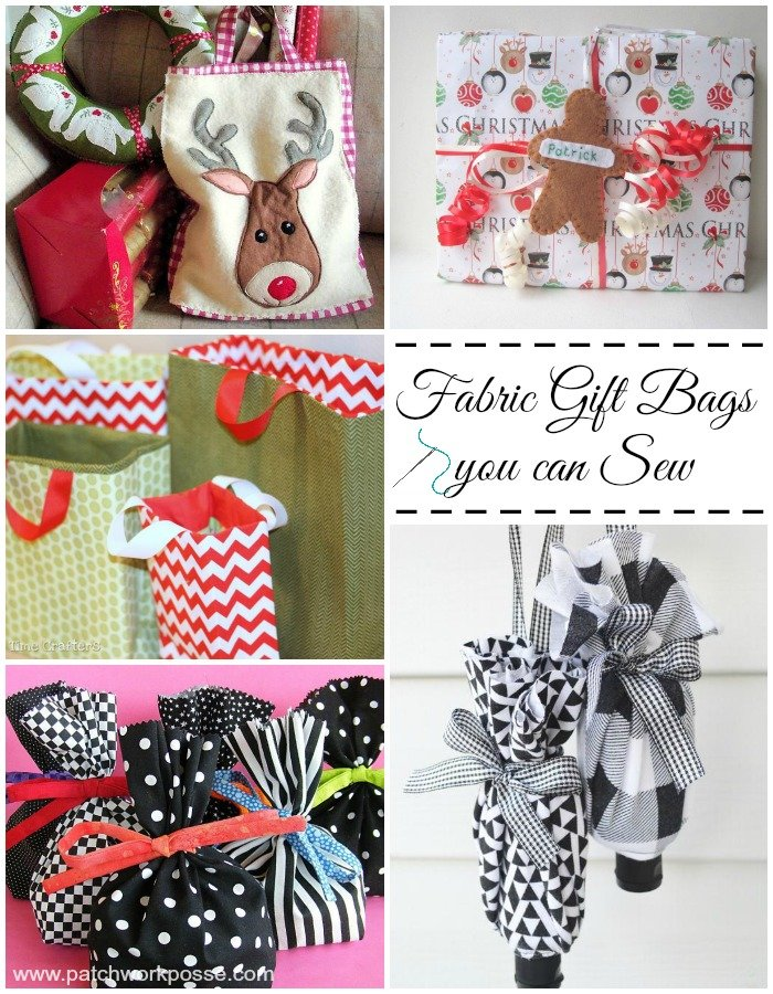 25+ Cute Fabric Gift Bags You Can Sew