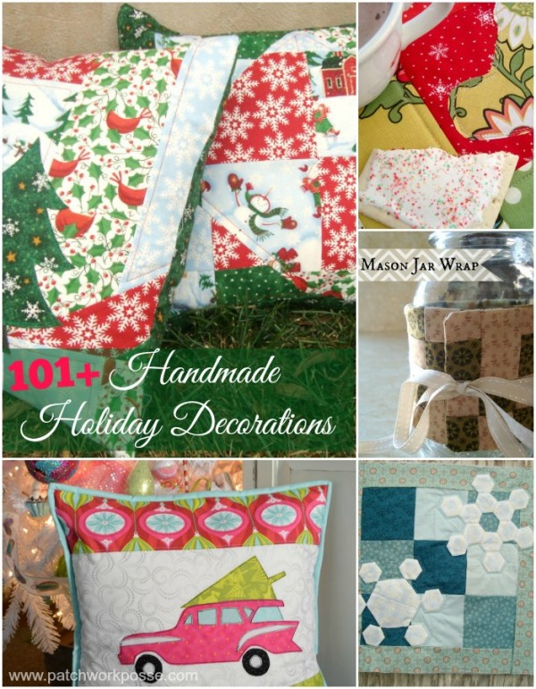 handmade holiday decorations | PatchworkPosse #holiday #christmas #diycrafts
