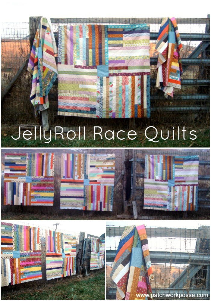 jelly roll race quilt tutorial | PatchworkPosse #quiltpattern #jellyroll #freetutorial