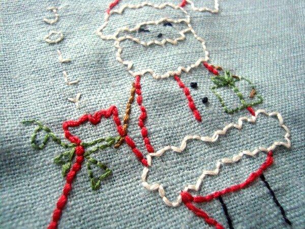 Free Christmas Embroidery Designs Snowman, Santa, Bird, and Christmas Tree