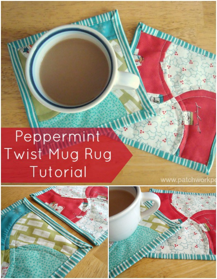 apple core mug rug tutorial | patchwork posse #easysewingproject #mugrug #freepattern