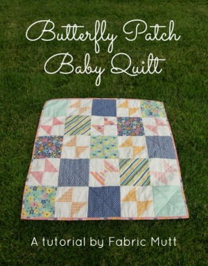 Butterfly Patch Baby Quilt Header