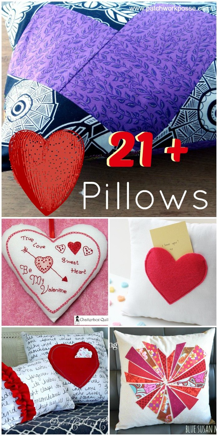 20+ Heart Pillows for Valentines