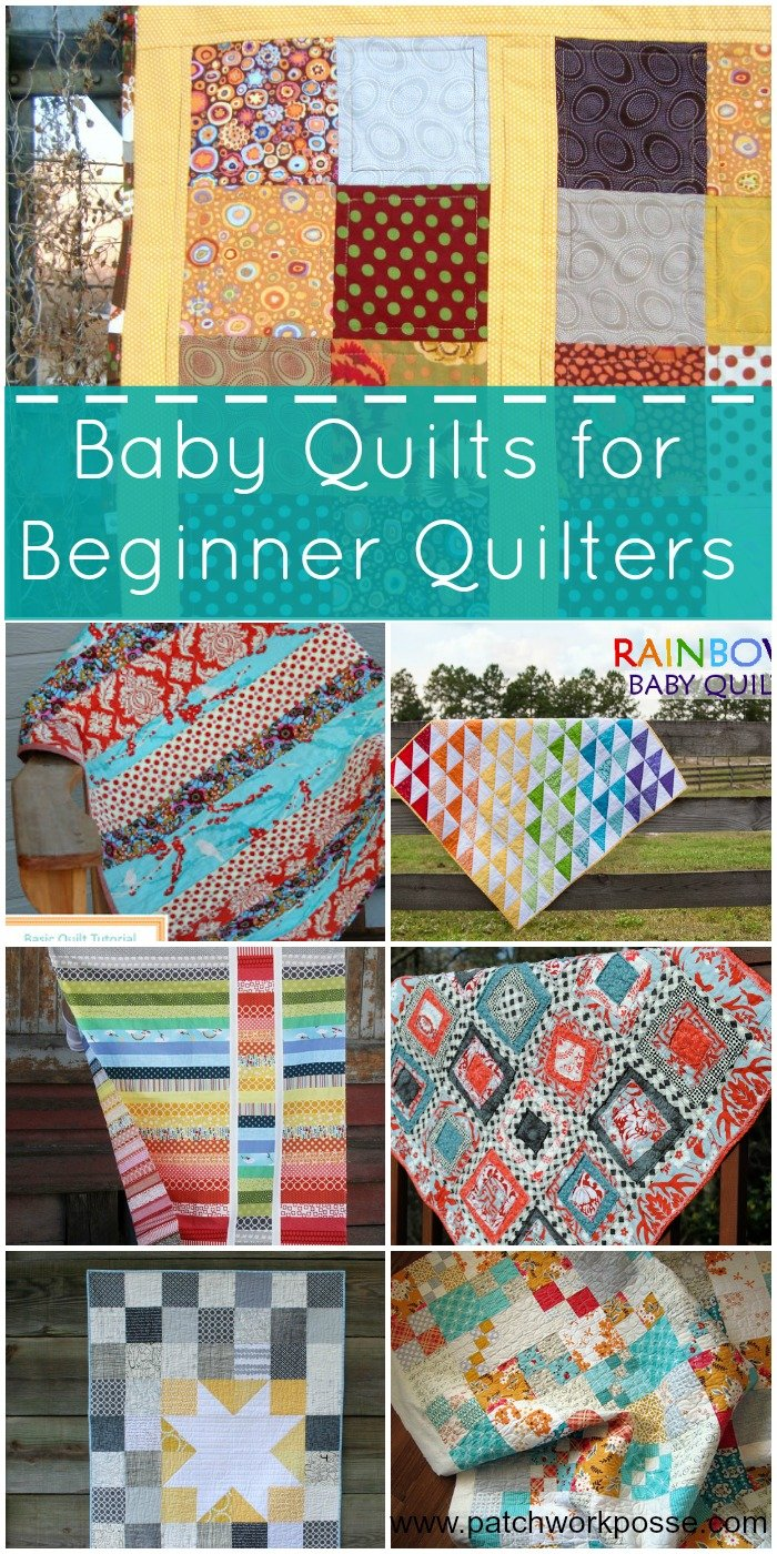 baby quilts for beginner quilters | PatchworkPosse #freepattern #sewing #baby