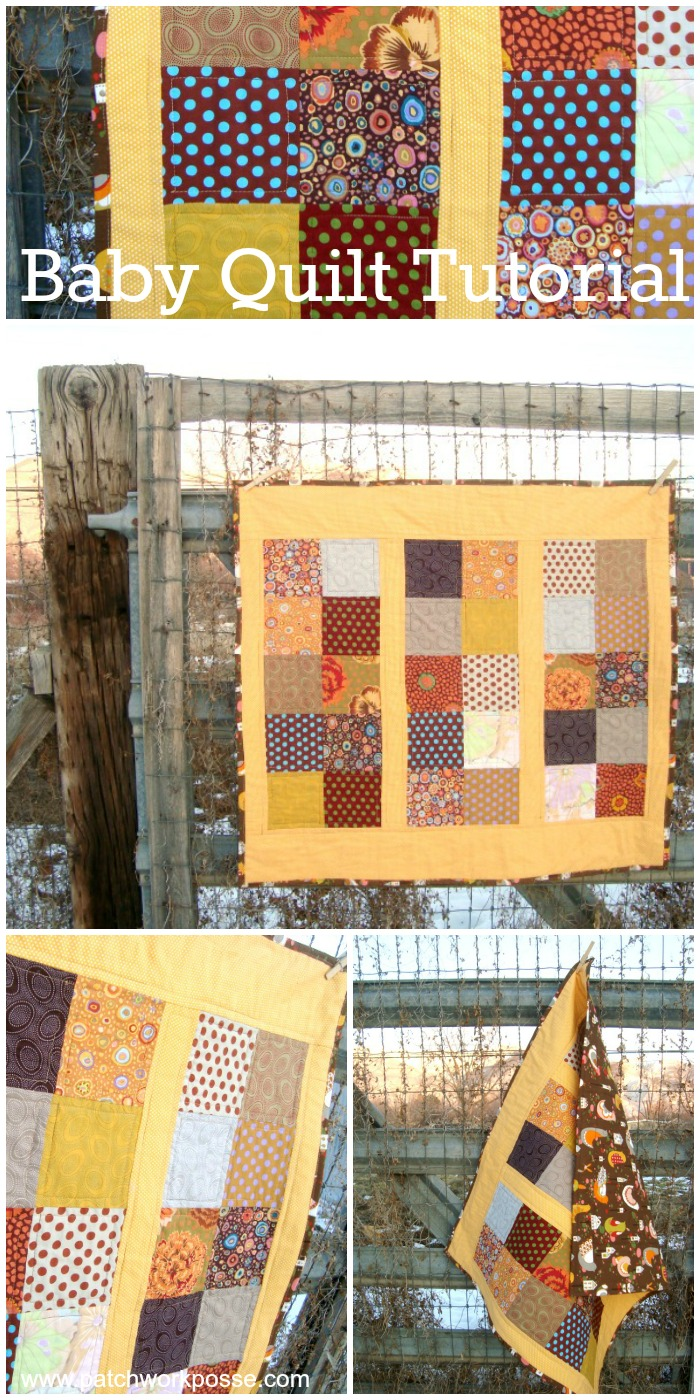 baby quilt tutorial - learn how to quilt | PatchworkPosse #quilting #babyquilt #sewing