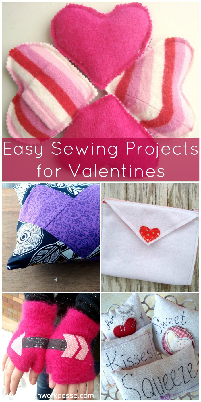 easy sewing projects for Valentines #valentines #freepatternfriday