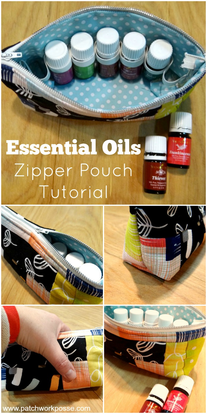 Essential Oils Zipper Pouch Tutorial