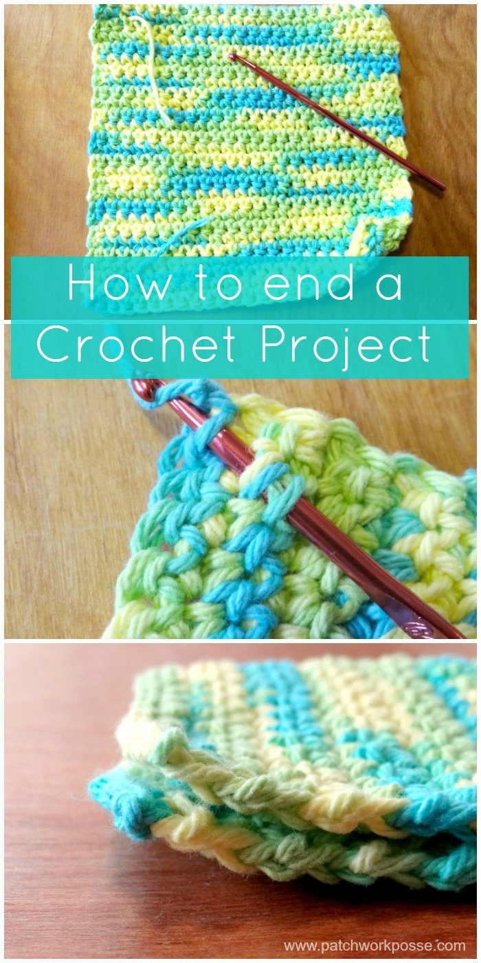 how to end a crochet project