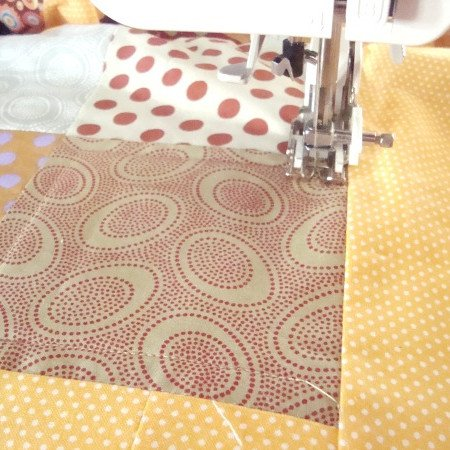 machine quilt with a walking foot