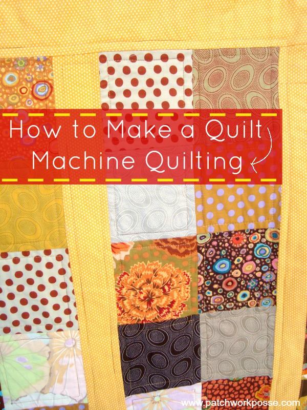 how to make a quilt machine quilting | PatchworkPosse #quilting #sewing Learn how to use your sewing machine to machine quilt.  It's not as hard as you think!