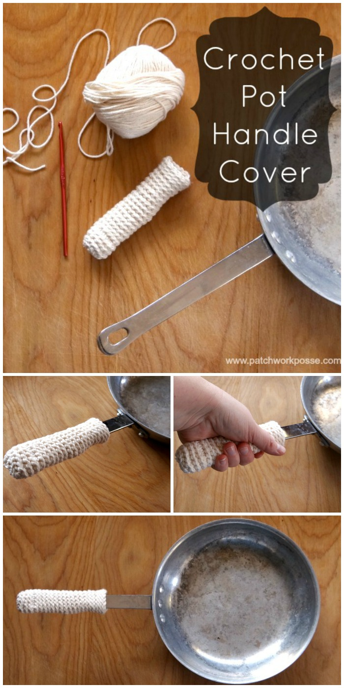 learn how to make a crochet pot handle cover