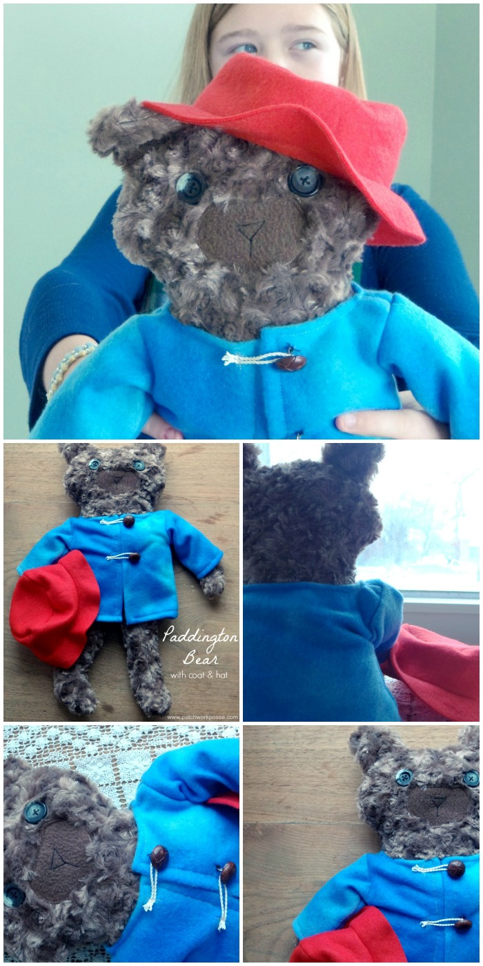 paddington bear free patterns including hat and coat | PatchworkPosse #sewing #paddingtonbear #plushie