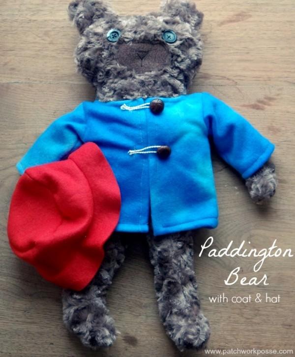paddington bear free patterns including hat and coat | PatchworkPosse #sewing #paddingtonbear #plushie
