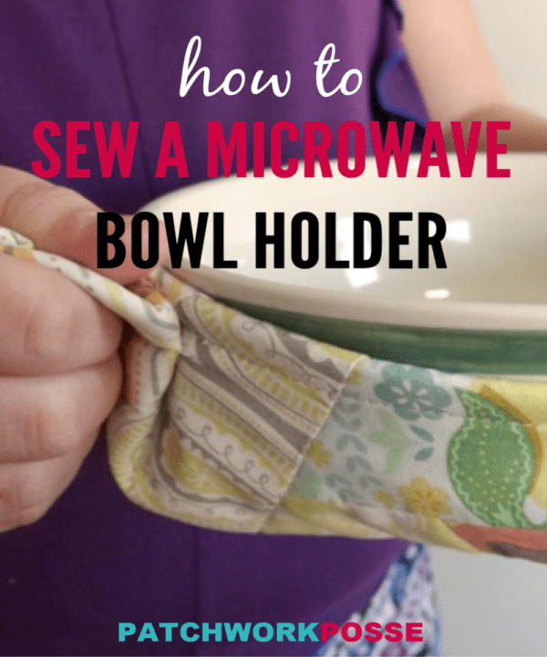 Sew up a microwave bowl potholder with cotton batting and fabric scraps. Use the quilt as you go technique. Great for saving fingers on hot bowls!