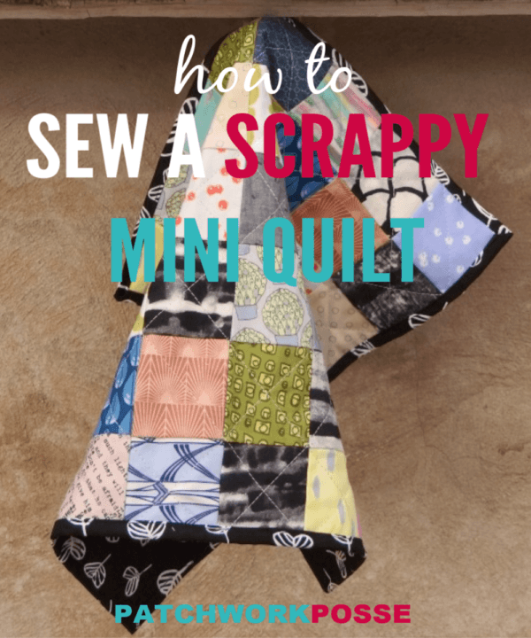 Learn how to sew your pieces together with a custom grid with this postage stamp mini quilt tutorial. Great for fabric scraps.
