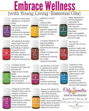 young living oil --what does each oil do? Great information to help you.