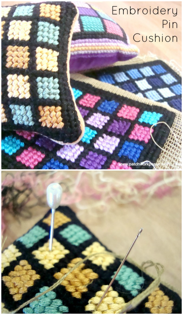 embroidery pin cushion free pattern