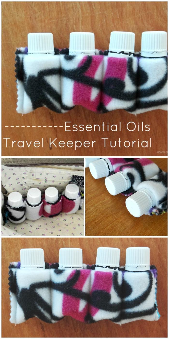 free essential oil bottle travel keeper tutorial