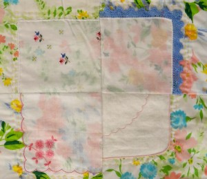hankie baby quilt block