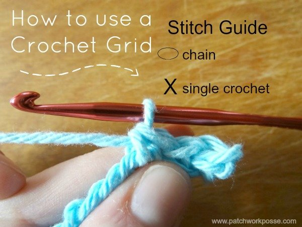 how to use a crochet grid