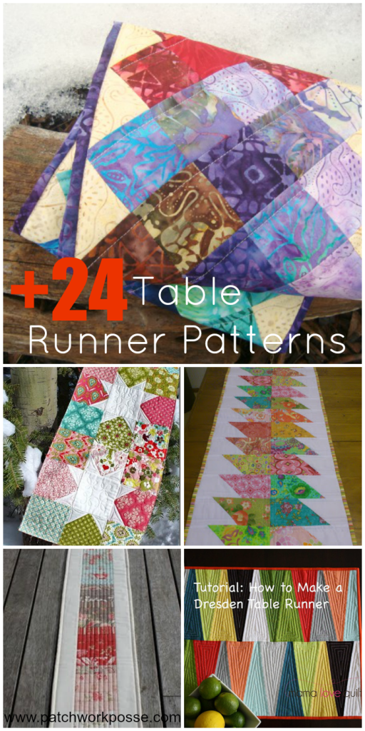 24 table runner patterns for 10 minute table runner 30 minute tote bag