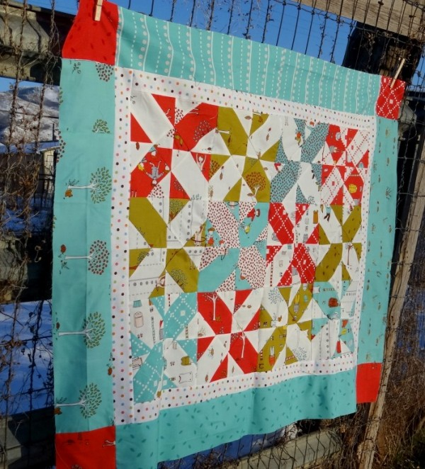 baby quilt tutorial with disappearing quilt blocks