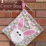 Easter Bunny Cinch Bag Tutorial