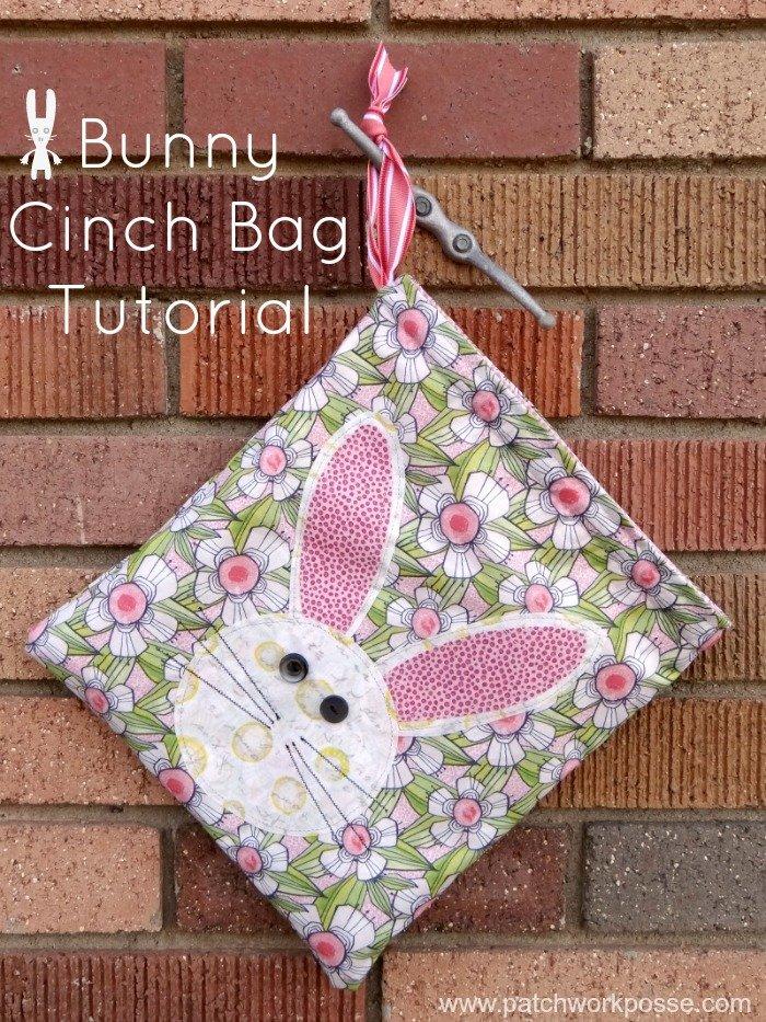 bunny cinch bag tutorial