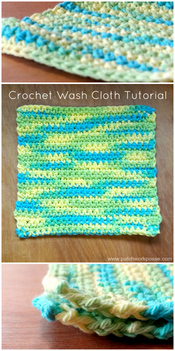 crochet wash cloth pattern free