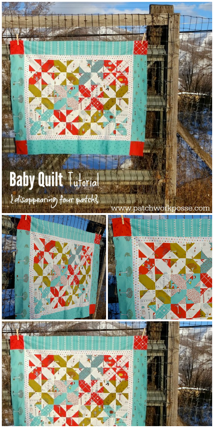 disappearing four patch baby quilt free