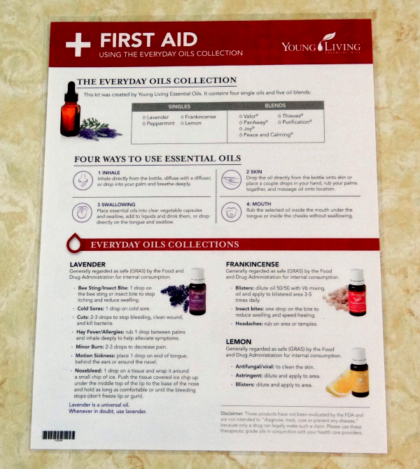 first aid and essential oils for beginners