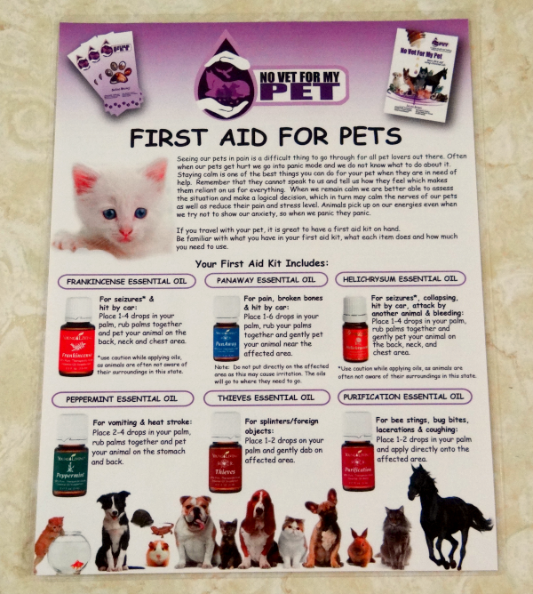 first aid for pets and essential oils