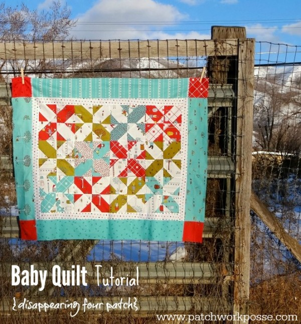free disappearing four patch baby quilt