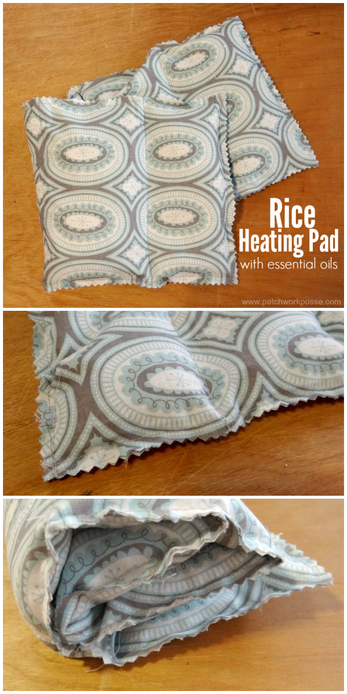 heating pad tutorial with essential oils and rice