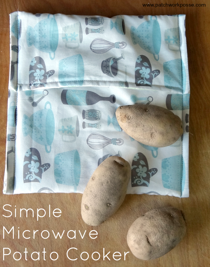 how to sew a microwave potato cooker bag