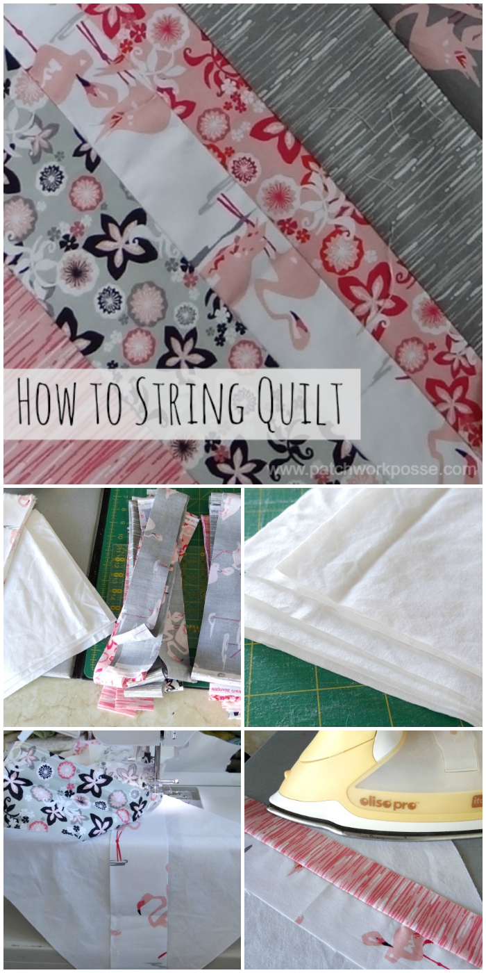 how to sew a string quilt tutorial