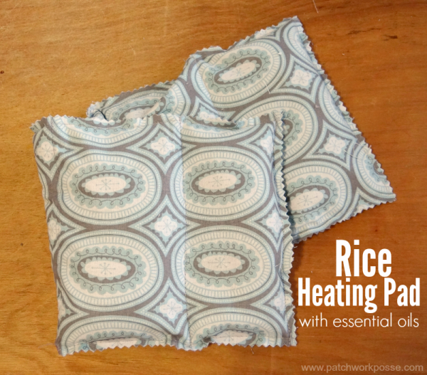 rice filled heating pad with essential oils tutorial