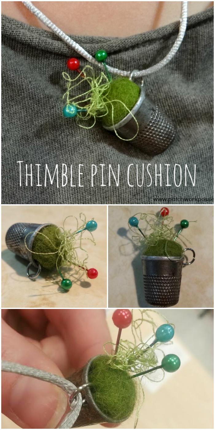 thimble pin cushion tutorial easy and cute