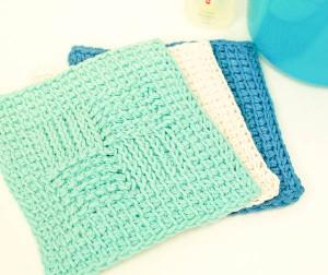 Tunisian-Washcloth-Sampler