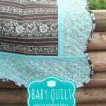 baby quilt with pre quilted fabric