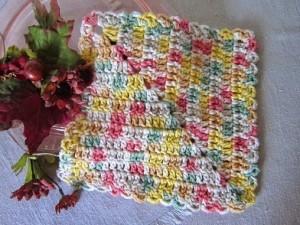 diagonal dishcloth