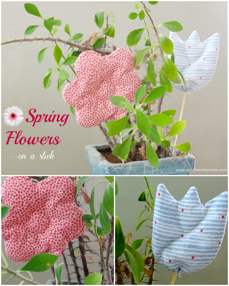 fabric flowers on a stick tutorial