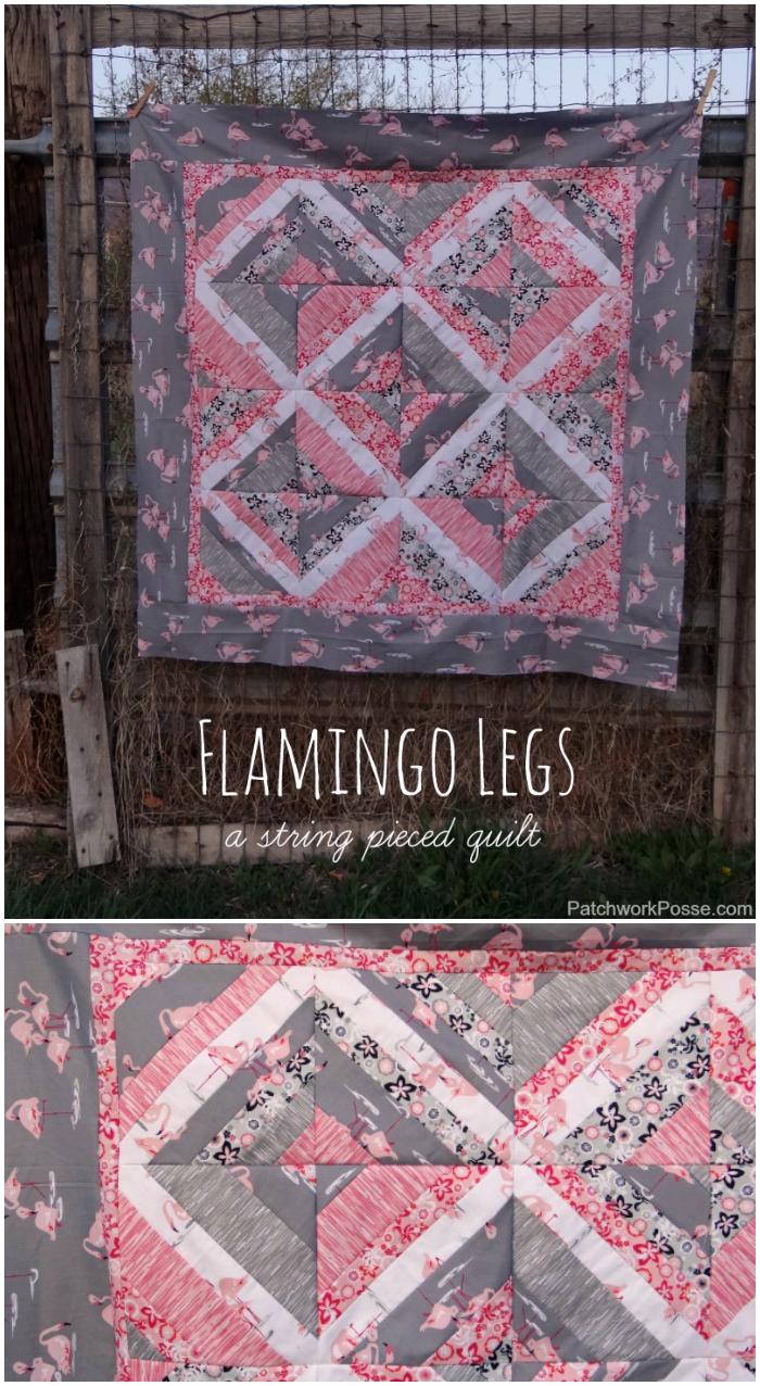 flamingo legs baby quilt tutorial