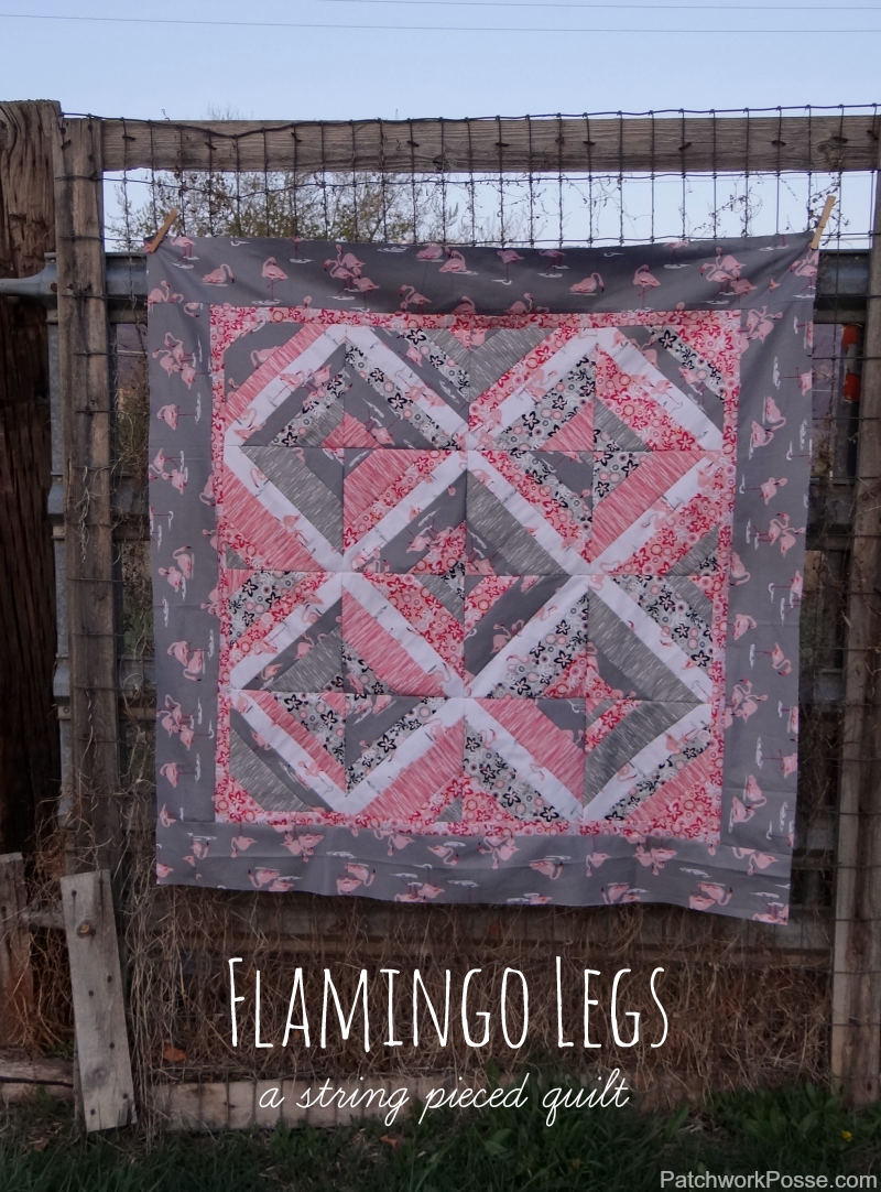 Learn how to sew up string quilt blocks and then put them into a quilt. Easier than I thought!