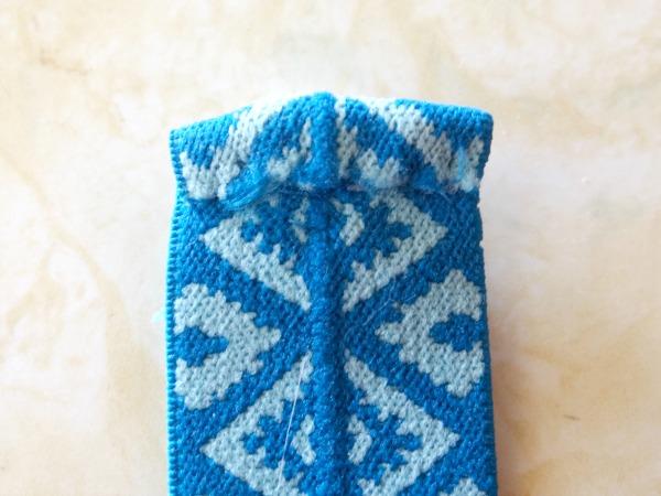 fold end and stitch