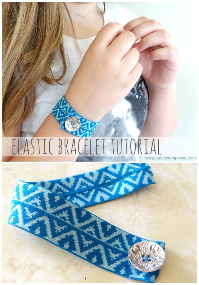handmade elastic bracelet tutorial
