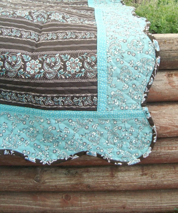 quilted fabric baby quilt