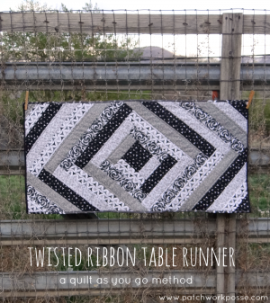 twisted ribbon table runner tutorial