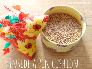 what is inside a pin cushion